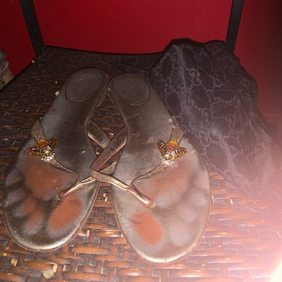 Gucci Shoes - Gucci sandals with firefly details size 81/2